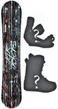 159cm Wide Airtracks Dust Camber Snowboard, Build a Package with Boots and Bindings
