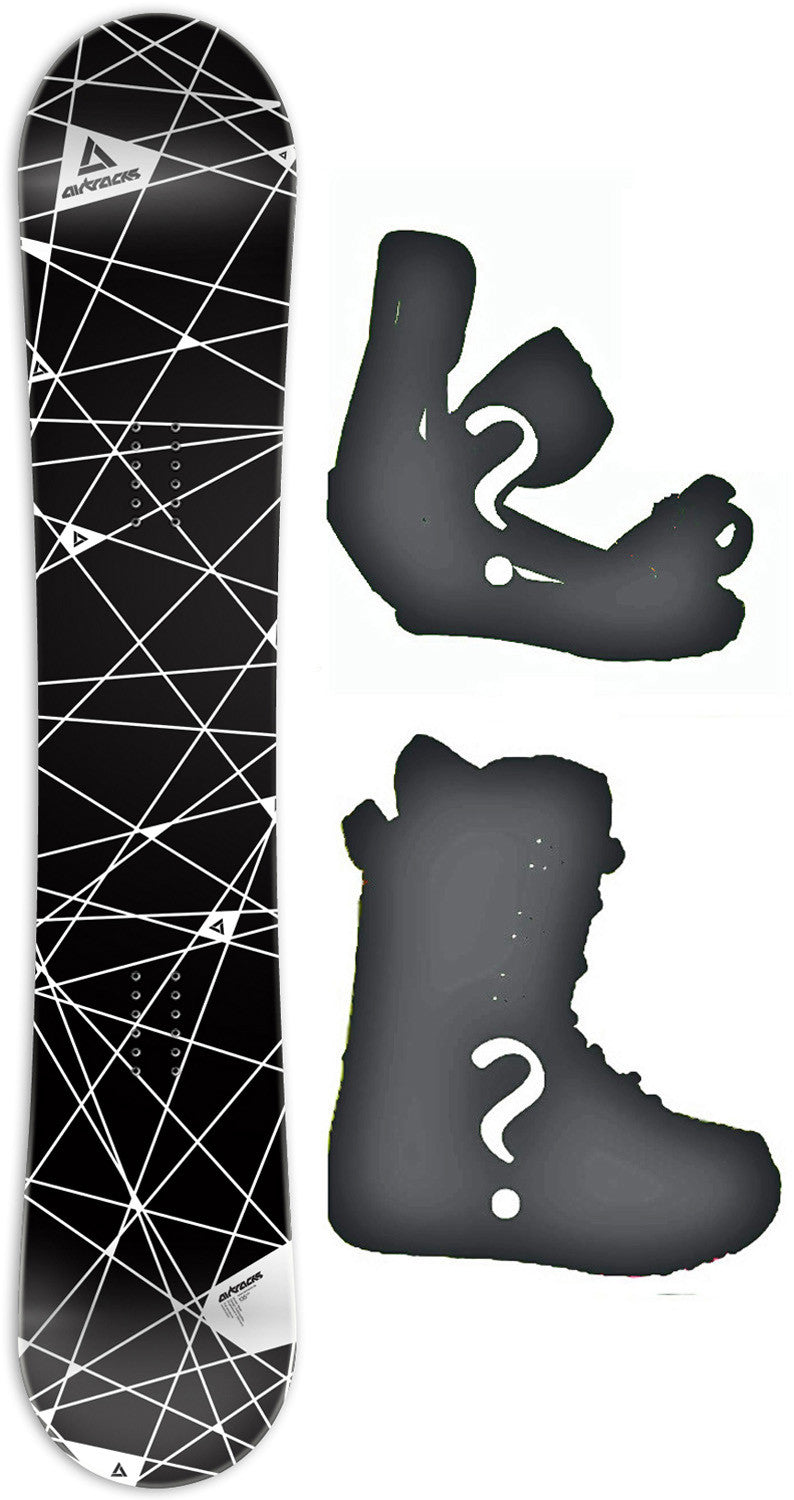 159cm Wide Airtracks Mesh W-Rocker Snowboard, Build a Package with Boots and Bindings