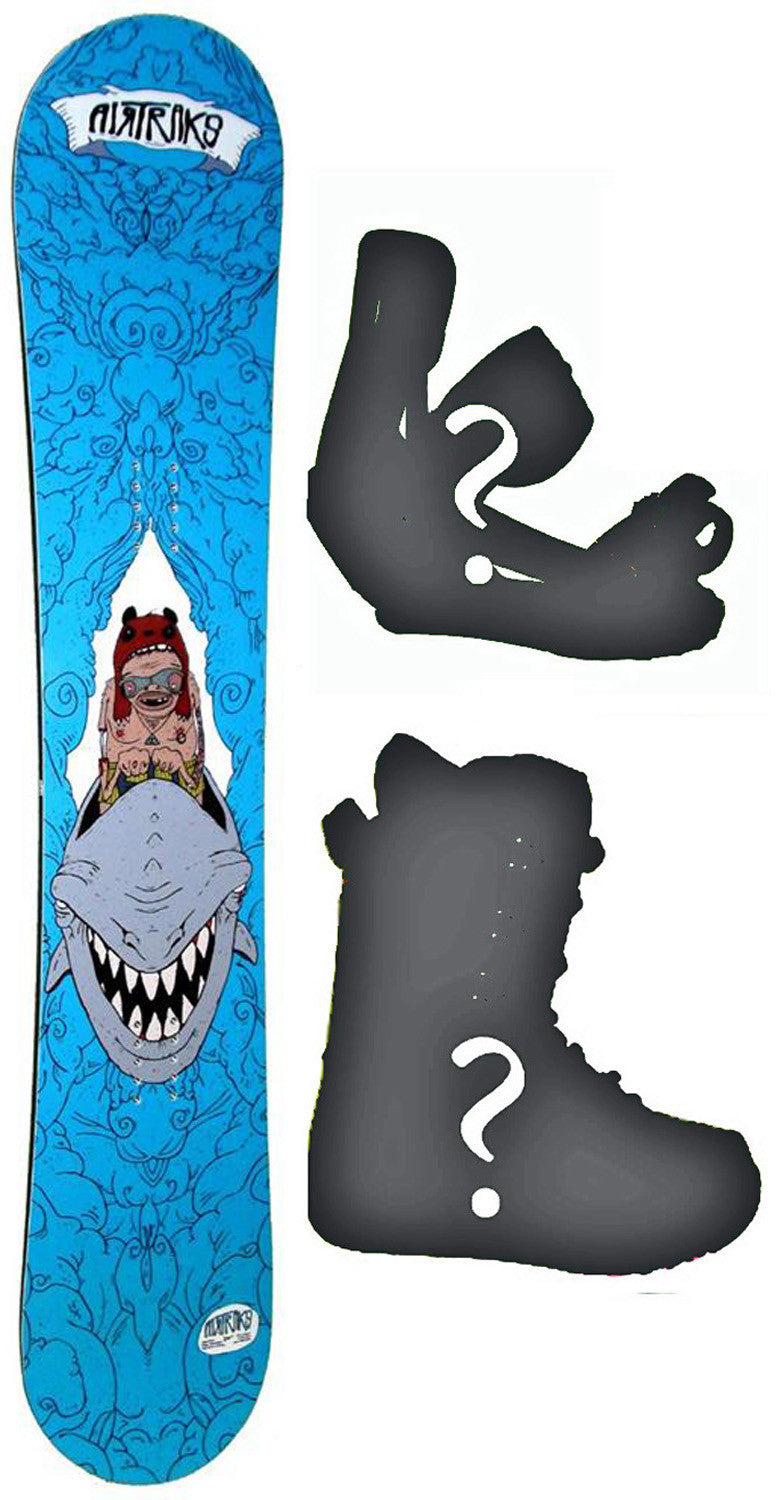 159cm Wide Airtracks Rider Camber Snowboard, Build a Package with Boots and Bindings