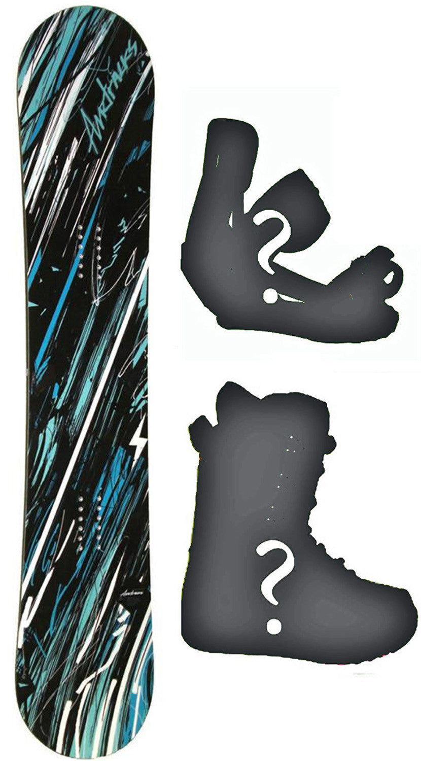 155cm Wide Airtracks Wisdom Camber Snowboard, Build a Package with Boots and Bindings