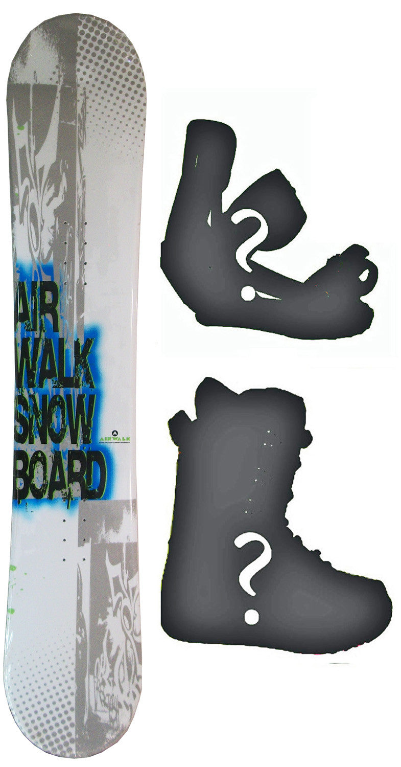 150cm  Airwalk Logo White Camber Snowboard, Build a Package with Boots and Bindings