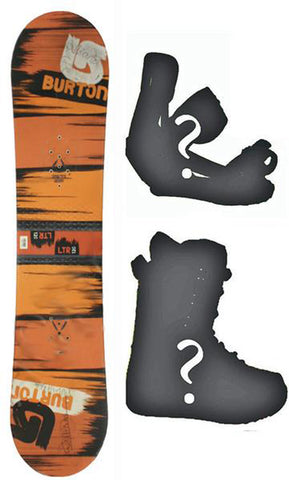 120cm Burton Ltr Kids Used Snowboard Flat Rocker, Build a Package with Boots and Bindings