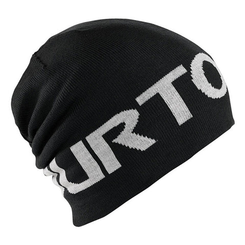BURTON BILLBOARD SNOWBOARD BEANIE BLACK WHITE REVERSIBLE