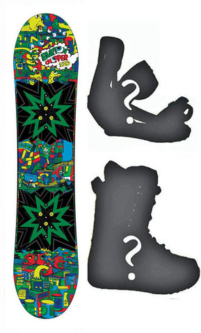 120cm Burton USED Chopper Flat Rocker Snowboard, Build a Package with Boots and Bindings