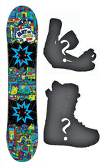 110cm Burton USED Chopper Flat Rocker Boy's Snowboard, Build a Package with Boots and Bindings