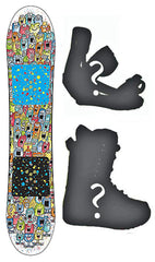 120cm Burton USED Chopper Flat Rocker Kid's Snowboard, Build a Package with Boots and Bindings