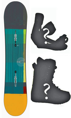 130cm Burton USED Custom Smalls Est. V-Rocker Snowboard, Build a Package with Boots and Bindings