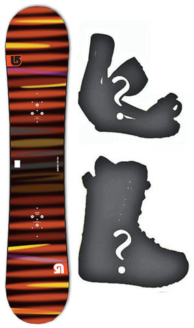 140cm Burton USED LTR Flat Rocker Men's Snowboard, Build a Package with Boots and Bindings
