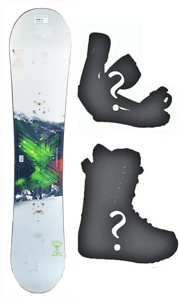 137cm Burton USED Progression Rocker Men's Snowboard, Build a Package with Boots and Bindings