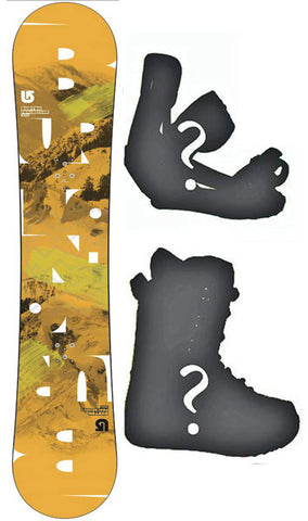 147cm Burton USED Progression V-Rocker Men's Snowboard, Build a Package with Boots and Bindings