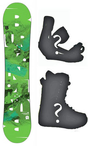 137cm Burton USED Progression V-Rocker Snowboard, Build a Package with Boots and Bindings