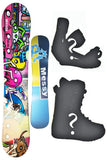 150cm BXB Messy Camber Snowboard, Build a Package with Boots and Bindings.