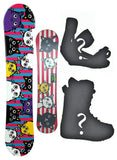 140cm BXB Tamago World, Flat Rocker Womens Snowboard, Build a Package with Boots and Bindings.
