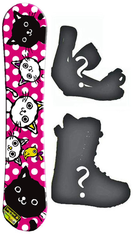 140cm BXB Tamago World, Powder Camber Womens Snowboard, Build a Package with Boots and Bindings.