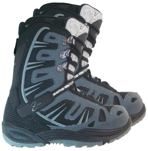 Black Dragon BD1055 Black Gray Snowboard Boots 9
