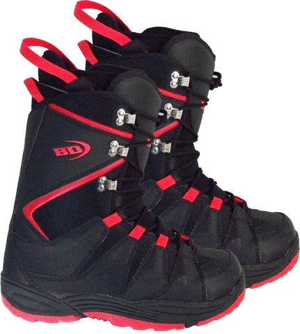 Black Dragon SBB039 Black-Red Snowboard Boots 9 Mens