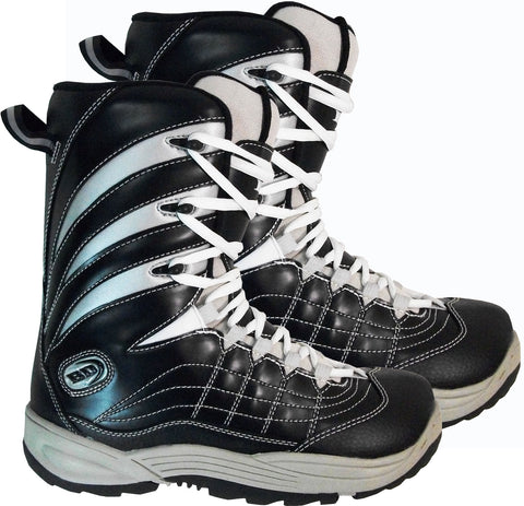 Black Dragon BD 1042u Black Silver Snowboard Boots   10.5 11 11.5 12.5