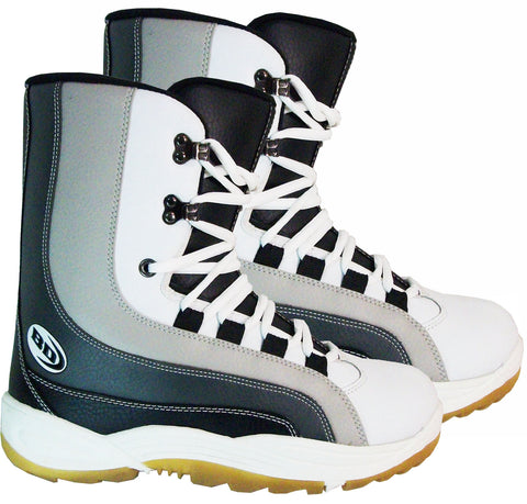 Black Dragon BD1091 Grey Blue White Snowboard Boots Size 4