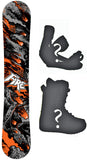 166cm Wide Black Fire Fire Armageddon Camber Snowboard, Build a Package with Boots and Bindings