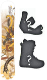 156cm  Black Fire Kurt Worms Rocker Snowboard, Build a Package with Boots and Bindings