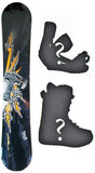163cm  Black Fire Thor's Hammer W-Camber Snowboard Rare Last 1