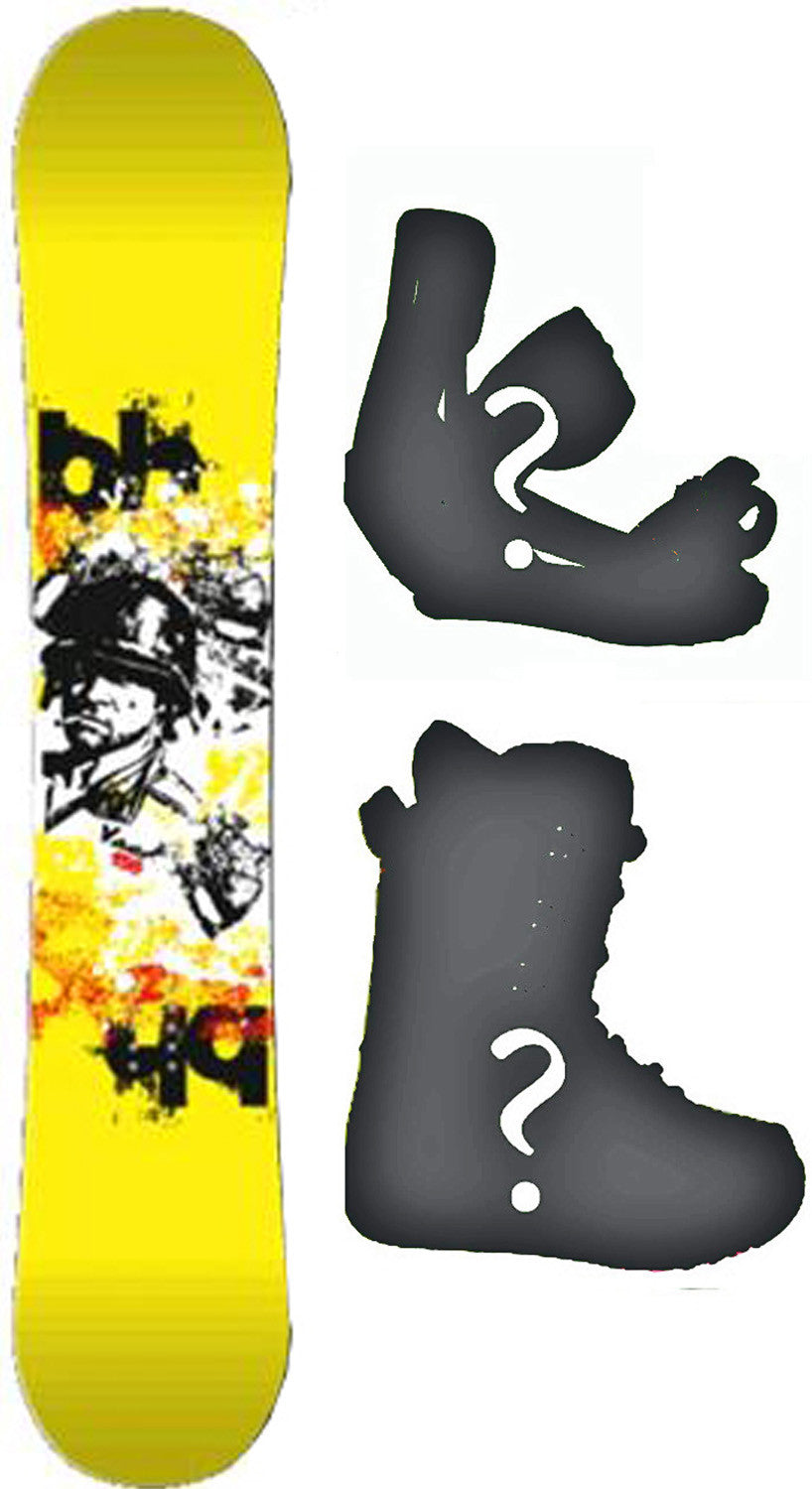 153cm  Black Hole D Skate Rocker Snowboard, Build a Package with Boots and Bindings