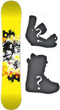 155cm  Black Hole D Skate Rocker Snowboard, Build a Package with Boots and Bindings