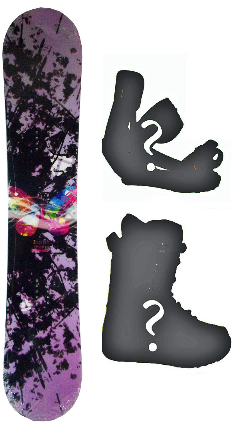 148cm  Black Hole Dream Butterfly Rocker Snowboard, Build a Package with Boots and Bindings