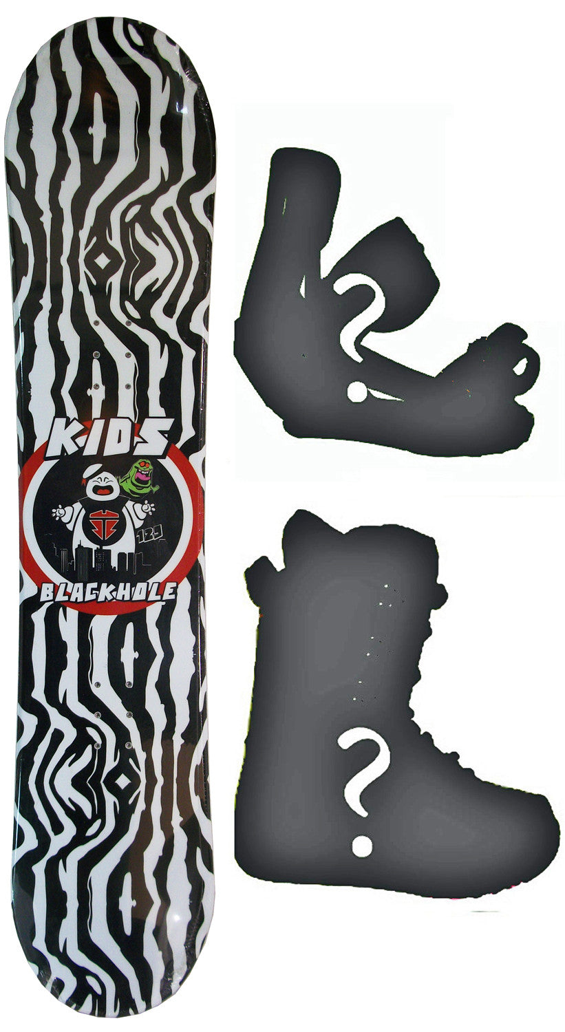 139cm  Black Hole Ghost Busters Rocker Snowboard, Build a Package with Boots and Bindings
