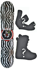 129cm  Black Hole Ghost Busters Rocker Snowboard, Build a Package with Boots and Bindings