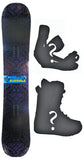 156cm  Black Hole Ignition Rocker Snowboard, Build a Package with Boots and Bindings