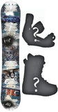 155cm  Black Hole V Skate Rocker Snowboard, Build a Package with Boots and Bindings