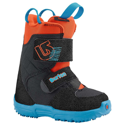 Burton Mini Grom Kids Velcro  Snowboard Boots Sizes c11 c12 c13 1 Black Blue Org