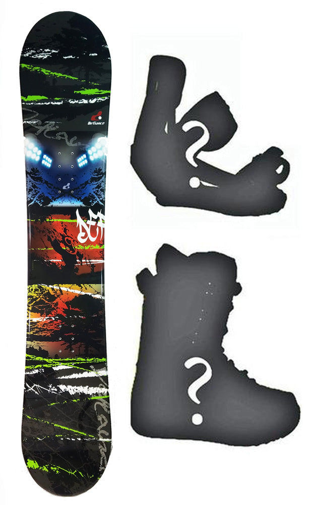 150cm Defiance Team Camber Snowboard, Build a Package with Boots and Bindings.