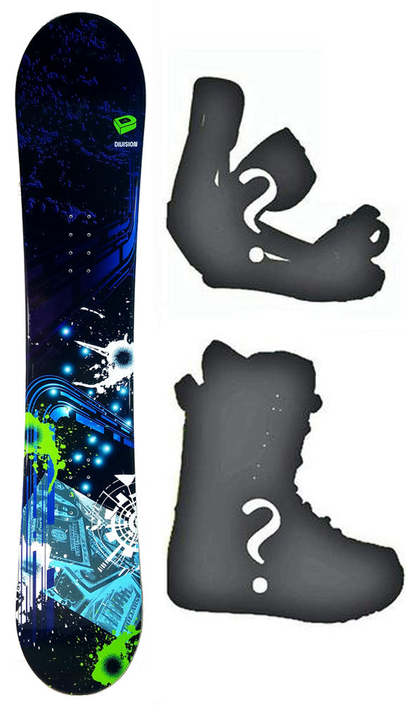 150cm Division Print camber Mens Snowboard, Build a Package with Boots and Bindings.