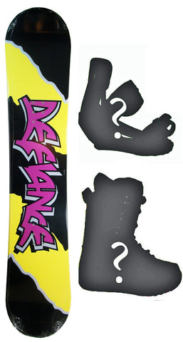 130cm  Defiance Team Purple Rocker Snowboard, Build a Package with Boots and Bindings