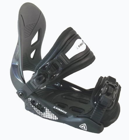 Firefly C2 Jr snowboard bindings junior Kids Youth Solid black Xs -small