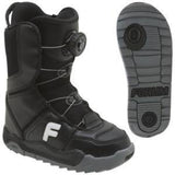 Forum Mini League Boa Youth Snowboard Boots (Black) Size 13c.