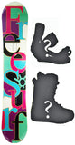 153cm  Free Surf 7th Heaven Black Rocker Snowboard, Build a Package with Boots and Bindings