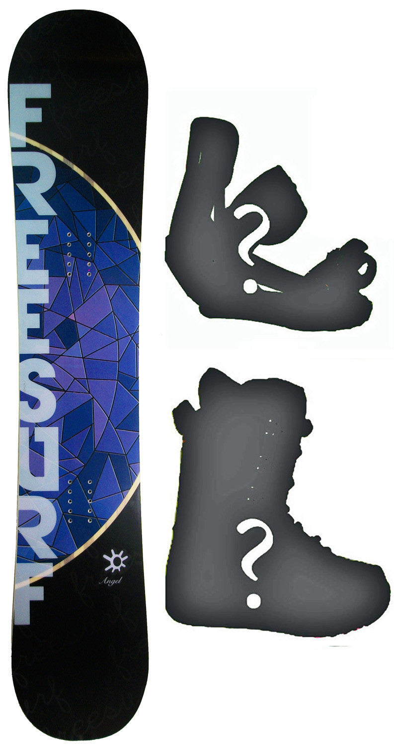 153cm  Free Surf Angel Rocker Snowboard, Build a Package with Boots and Bindings