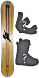 152cm  Free Surf Cannon Rocker Snowboard, Build a Package with Boots and Bindings