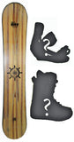 144cm  Free Surf Compass Flat Rocker Snowboard, Build a Package with Boots and Bindings