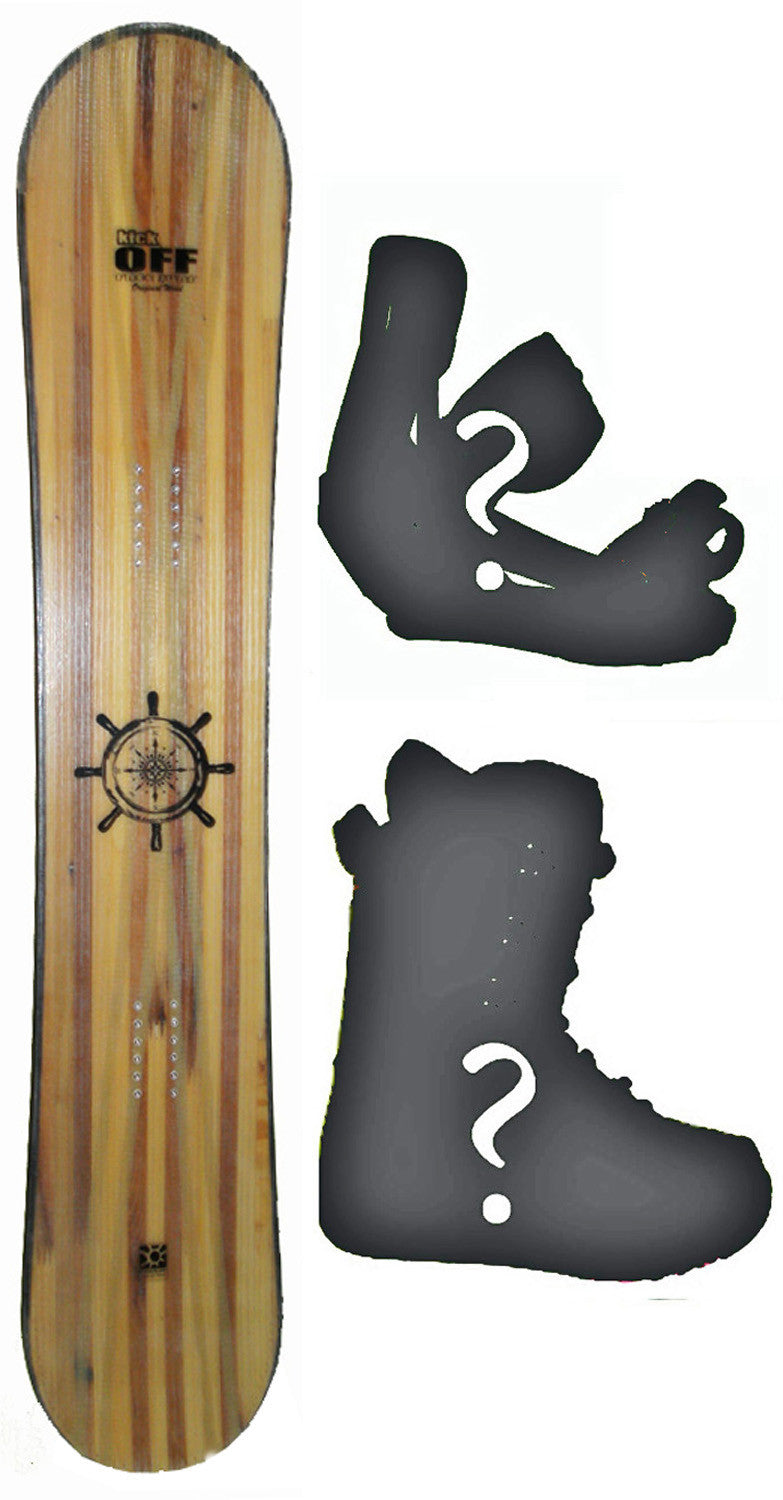 146cm  Free Surf Compass W-Rocker Snowboard, Build a Package with Boots and Bindings