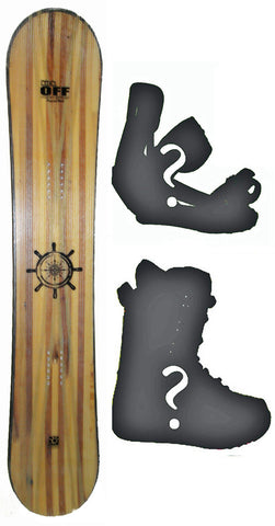 120cm  Free Surf Compass Camber Snowboard, Build a Package with Boots and Bindings