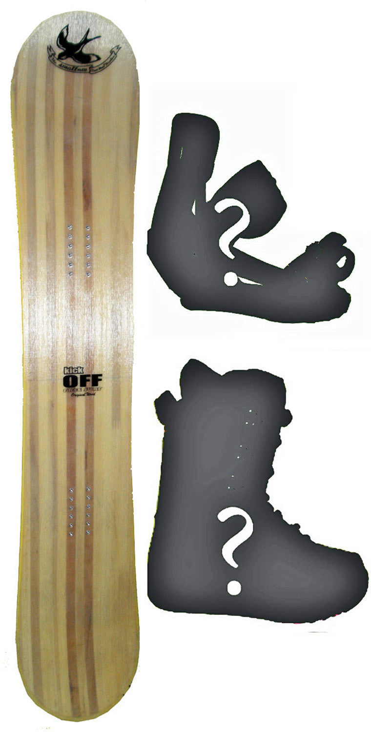 159cm  Free Surf Swallow Flat Rocker Snowboard, Build a Package with Boots and Bindings