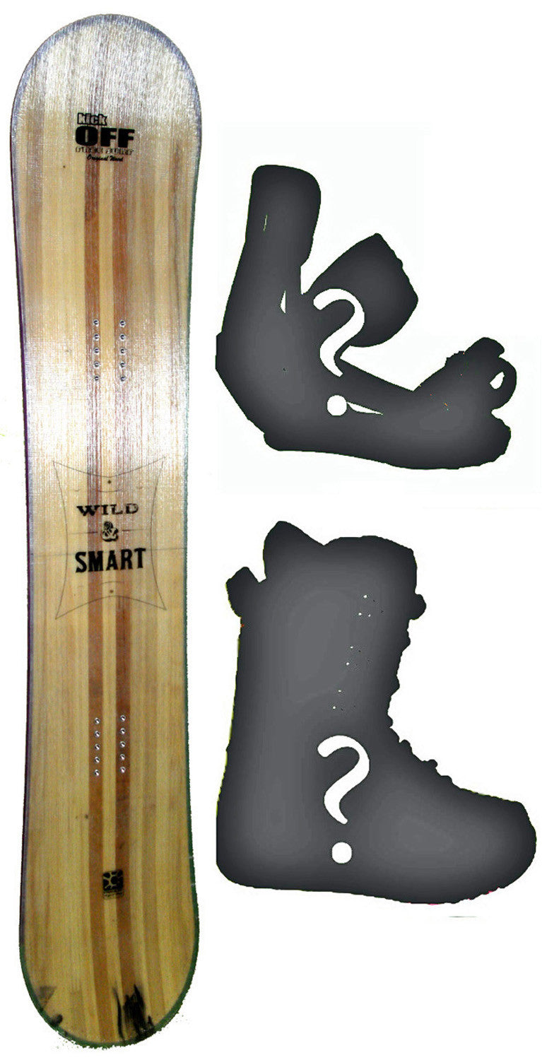 150cm  Free Surf Wild n Smart Light W-Rocker Snowboard, Build a Package with Boots and Bindings