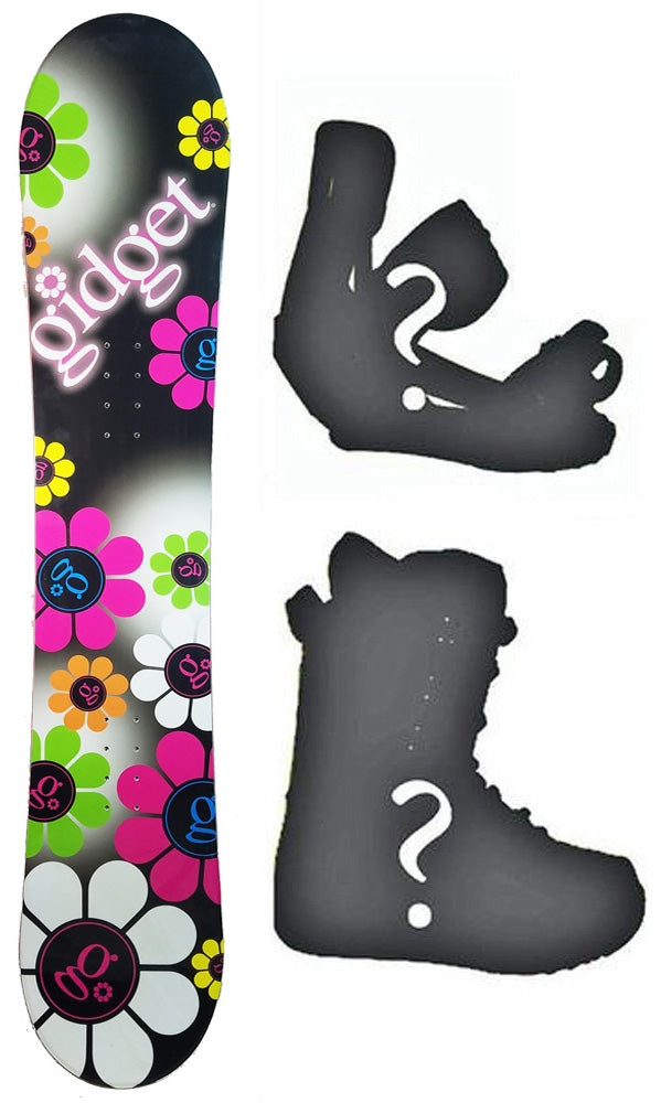 138cm Gidget Floral Camber Womens Snowboard, Build a Package with Boots and Bindings.