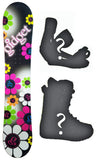 142cm Gidget Floral Camber Womens Snowboard, Build a Package with Boots and Bindings.