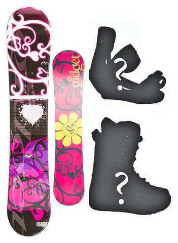 140cm Gidget Lynx, Camber Womens Snowboard, Build a Package with Boots and Bindings.
