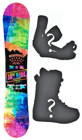 140cm Joyride Beach Party Black Flat Rocker Womens Snowboard, Build a Package with Boots and Bindings.